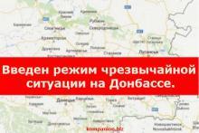 Чрезвычайная ситуация в Украине