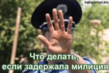 Что делать если вас задержала милиция